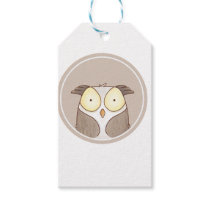 Forest portrait owl gift tags