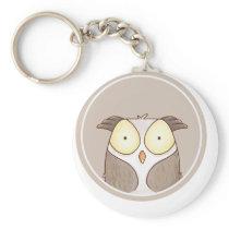 Forest portrait owl keychain