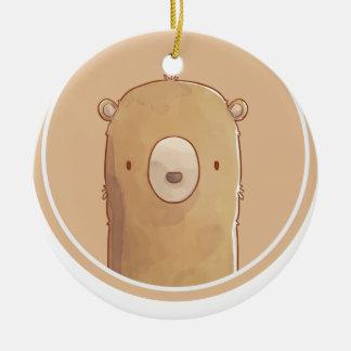 Forest portrait to bear ceramic ornament