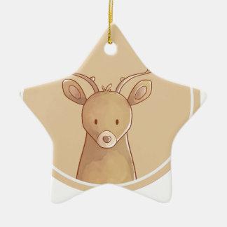 Forest portrait to deer ceramic ornament