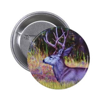 Forest Prince, Mule Deer Buck Button