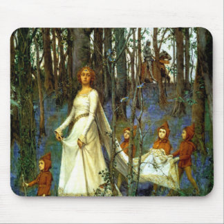 FOREST PRINCESS DWARVES KNIGHT FAIRYTALE FANTASY MOUSE PAD