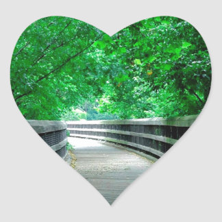 Forest Protection Shelter Heart Sticker