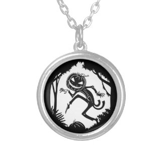 Forest Pump Kin Silver Plated Necklace