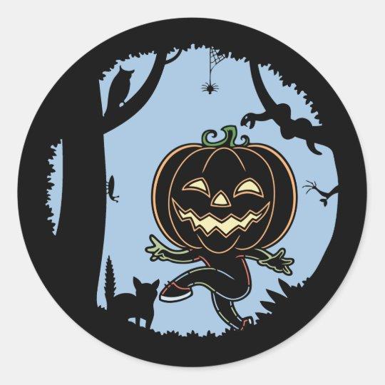 Forest Punkin Kid Classic Round Sticker
