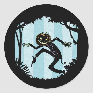 Forest Punkin Man Classic Round Sticker