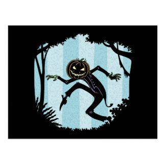 Forest Punkin Man Postcard