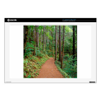 Forest Quiet Trail Columbia River Gorge Skins For Laptops