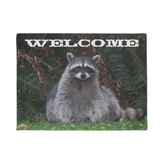 Forest Raccoon Photo Doormat