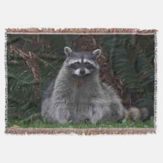 Forest Raccoon Photo Throw Blanket