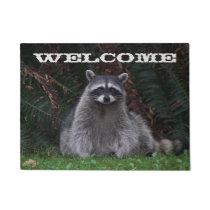 Forest Raccoon Photo Welcome Doormat