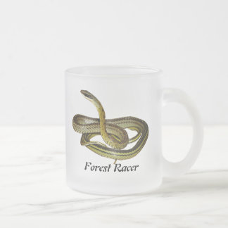 Forest Racer Frosted Glass Mug