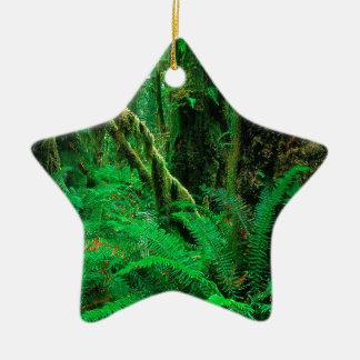 Forest Rain Olympic Ceramic Ornament