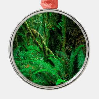 Forest Rain Olympic Christmas Ornament