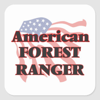 FOREST-RANGER144907641.png Square Sticker