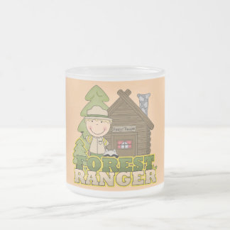 Forest Ranger Boy Tshirts and Gifts Frosted Glass Coffee Mug
