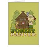 Forest Ranger - Brunette Girl Greeting Cards
