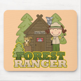Forest Ranger - Brunette Girl Mouse Pad