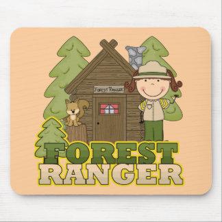 Forest Ranger - Brunette Girl Mouse Pads