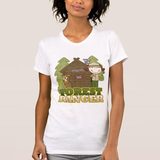 Forest Ranger - Brunette Girl T-Shirt