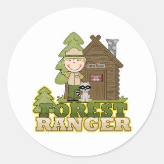 Forest Ranger Classic Round Sticker