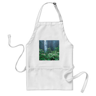 Forest Redwoods Blooming Rhododendrons Adult Apron