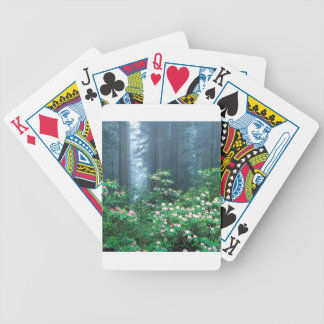 Forest Redwoods Blooming Rhododendrons Playing Cards