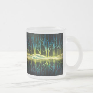 Forest Reflections Frosted Glass Coffee Mug