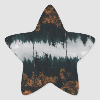 Forest Reflections Star Sticker