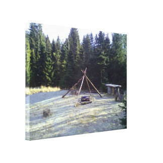 Forest Resting Place Canvas Print