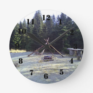 Forest Resting Place Round Wallclocks