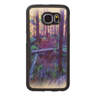 Forest Resting place Wood Phone Case