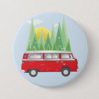 Forest retro Van Button