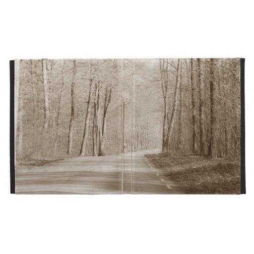 Forest road folio iPad case