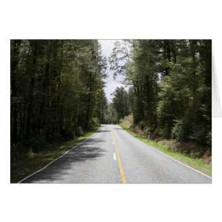 forest road greeting card