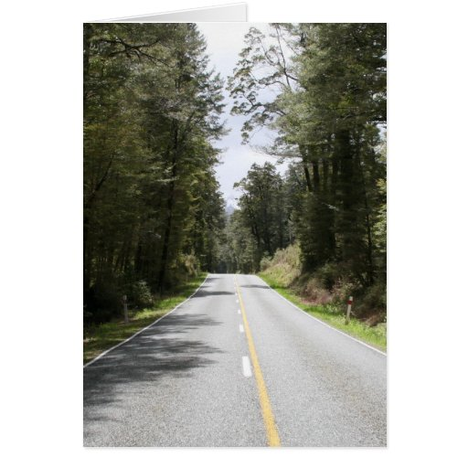 forest road nz greeting card