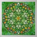 Forest Rose Mandala Poster