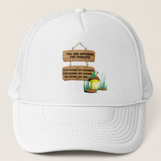 Forest rules trucker hat