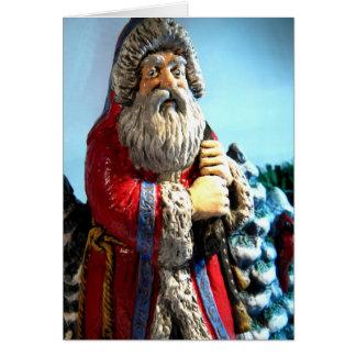 Forest Santa Card