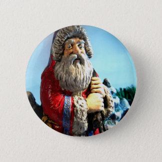 Forest Santa Pinback Button