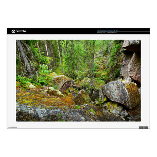 """Forest scene in Finland Decals For 17"""" Laptops"""