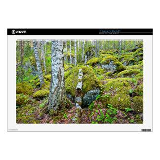 """Forest scene 17"""" laptop decals"""