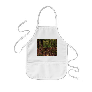 Forest Scene with a Stream and Bridge Kids' Apron