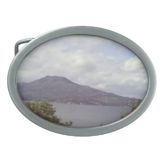 Forest sea and mountain oval belt buckles