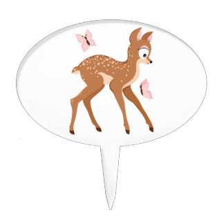 Forest series fawns baby deer girl cake topper