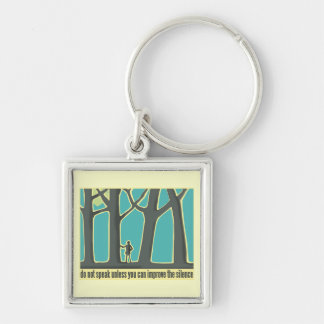 Forest Silence Key Chain