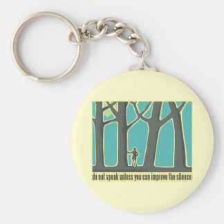 Forest Silence Key Chains