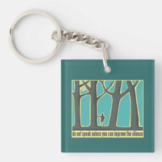 Forest Silence Single-Sided Square Acrylic Keychain