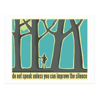 Forest Silence Postcard