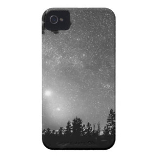 Forest Silhouettes Constellation Astronomy Gazing iPhone 4 Case